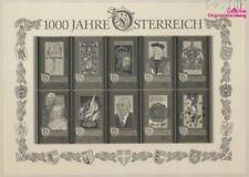 Autriche Block12S impression noir neuf 1996 1000 Années Autriche (9063364