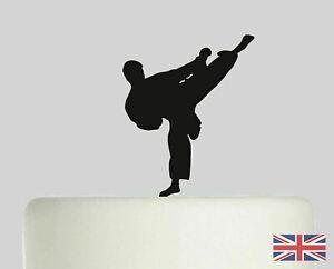 Karate Taekwondo Cake topper,Birthday, Celebration 3mm acrylic 120mm Topper.782