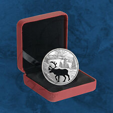 Canadá-Endangered animal cut out-Woodland Caribou - 30 $2017 pp-Plata