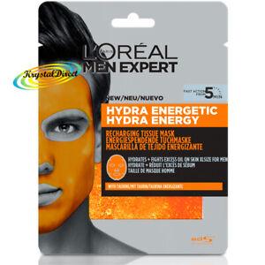Loreal Men Expert Hydra Energetic Recharging Tissue Mask 30g