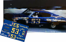 CD_2731 #53 Bud Moore - King Enterprises 1966 Dodge Charger  1:64 Scale DECALS