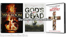3 Pack War Room - Gods Not Dead - Do You Believe DVD NEW SHIPS TODAY !