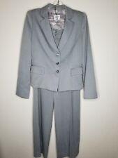 Women's Armani Collezioni Gray Wool Blend Blazer Pants Suit Set SZ 6