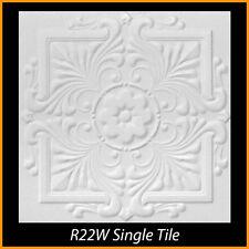 Ceiling Tiles Glue Up Styrofoam 20x20 R22 White Pack of 8