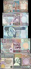 LIBYA SET 1/4 1/2 1 5 10 DINAR 2002 2004 UNC 5 PCS SET P 62 63 65 66 68