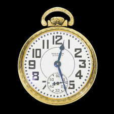 1936 Waltham Riverside 1621 Model 1908 21J Pocket Watch Running Keystone 16S