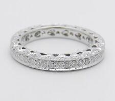 Ring Anniversary Band Size 6 18K White Gold Diamond Eternity Wedding