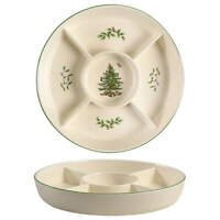 Spode CHRISTMAS TREE 5-Section Hors D'Oeuvre Dish 10122246