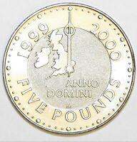 1999 Elizabeth II Commemorative £5 Millennium Extremely Fine Condition