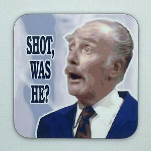 SHOT, WAS HE? - Fawlty Towers Coaster / Bar Mat - Sturdy, Gloss, Original