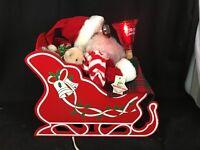 Vintage Telco Motionette Santa in Sleigh
