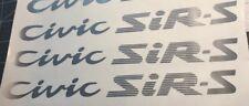 HONDA CIVIC SiR-S DECAL sticker JDM OEM size illest EG hatch eg6 eg3 eg4 Sir