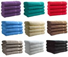 Traditional Solid Pattern Bath Towels