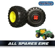 JOHN DEERE GATOR 12 VOLT PEG PEREGO REPLACEMENT REAR WHEELS TYRES