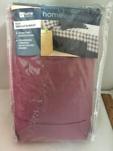 """JC Penney Home Collection Twin Bed Skirt Rose 15"""" Drop Box Pleat New 190743"""