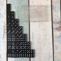 Vintage Dominoes 28 Complete Set In A Plastic Case Dragon Design
