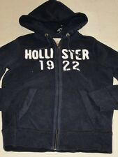 Hollister by Abercrombie Mens Navy Zip Hoodie Sweatshirt/Jacket Sz S - NWT $60