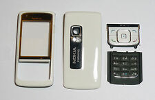 white Cover Housing Fascia facia faceplate Case skin for Nokia 6288 white