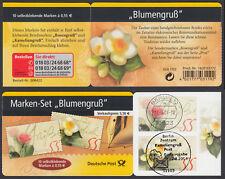 """Bund Markenheftchen 55 a gest. """"Blumengruß"""" 2004 Vollstempel Berlin EST Ersttag"""