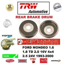 FOR FORD MONDEO 1.6 1.8 TD 2.0 16V 4x4 2.5 24V 1993-2000 1x REAR BRAKE DRUM