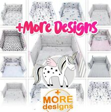 1500+SOLD 50+ DESIGNS - BABY BEDDING BED SET fit COT or COT BED 3,5 Pieces