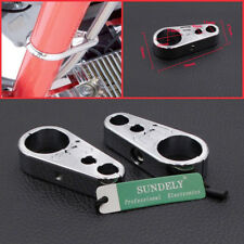"1"" Chrome Brake Clutch Alloy Cable Part Clamp Clip Bar For Harley Davidson"
