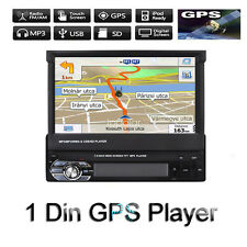 1Din Bluetooth 7' Car Radio Stereo Usb/Sd/Fm Touch Screen Head Unit Gps Maps