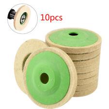 "10pcs 4"" Buffing Polishing Pads Wool Wheel Mop Kit For Car Polisher Drill UK"