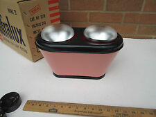 funky retro Selex Xcel Infralux pink black electric bathroom heater light boxed.
