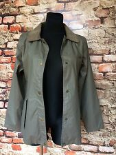 WATER REPELLENT WOMEN'S COAT SIZE S-M ARMY GREEN
