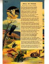 DB96.Vintage Postcard. Hell in Texas. Poem.Snakes,scorpions, centipedes.