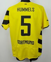 DORTMUND BORUSSIA Home #5 HUMMELS Shirt Mens XL 2014 2015 Jersey Trikot Football