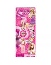 20 Image Pink Barbie Ken Car Figure Projector Projection Light Wrist Watch Toy