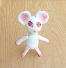 Lab Mouse Rat White Red Eyes Handmade Jointed Clay Art Doll Ooak Bjd Gift