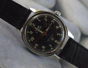 USED HMT Sainik 17Jewels Winding Working Wrist Watch For Men's Wear B-1384