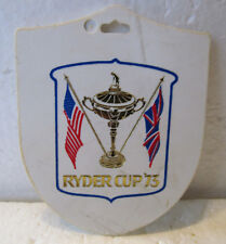 Colorful Ryder Cup Bagtag From The 1973 Ryder Cup At Muirfield, Scotland