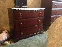 STAG MINSTREL VINTAGE CHEST OF 3 DRAWERS