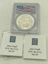 1991 $1 Silver Eagle PCGS MS69 9/11/01 WTC Ground Zero Recovery World Trade