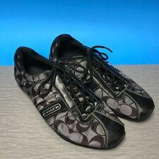 Coach Women's Shoes Size 10 Medium Kirby Sateen Black/Silver classic design