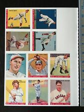 1933/34 GOUDEY 1978 REPRINT BASEBALL CARDS UNCUT SHEET (10) RUTH/SPEAKER 21919