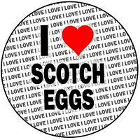"I Love Scotch Eggs - Round 8"" 20cm Icing Cake Topper Birthday Decoration Event"