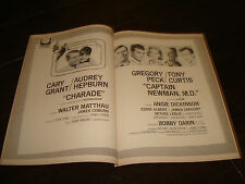 CHARADE 1964 Oscar ad Cary Grant, Audrey Hepburn & CAPTAIN NEWMAN Gregory Peck