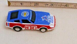 TYCO DATSUN 280Z BUDWEISER CAR HO SLOT CAR 1970s IN WHITE & BLUE