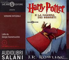 Audiolibro audiobook  HARRY  POTTER la camera dei segreti  J.K.  Rowling Usato