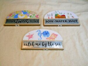 Tabletop Inspirational Sign #1, #2 and #3 ~ w/ Tin Plate ~ Your Choice