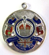 1939 BRITISH STERLING & ENAMELED MEDAL TRADE WITHIN THE EMPIRE WM BRUFORD & SONS