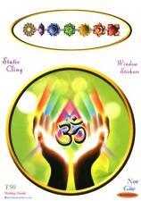 """Healing Hands""  Static Cling Window Sticker"