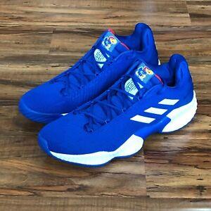Adidas Pro Bounce 2018 Low Kansas Jayhawks Royal Blue B41869 Men's Size 11