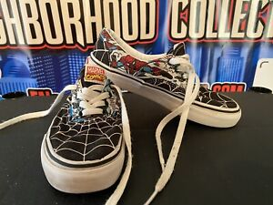 Vans Off The Wall Marvel Spider-man Shoes Youth Kids Size 2.5 Limited Edition