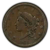 1838 1c Coronet Head Large Cent SKU-X1568